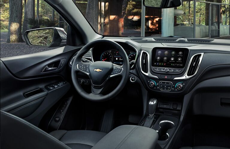 Grey dashboard and front seats in 2020 Chevrolet Equinox