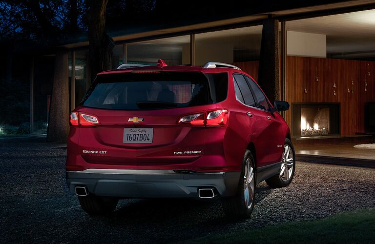 Rear view of red 2020 Chevrolet Equinox