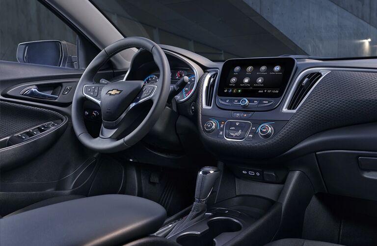 2020 Chevy Malibu interior steering wheel and dashboard