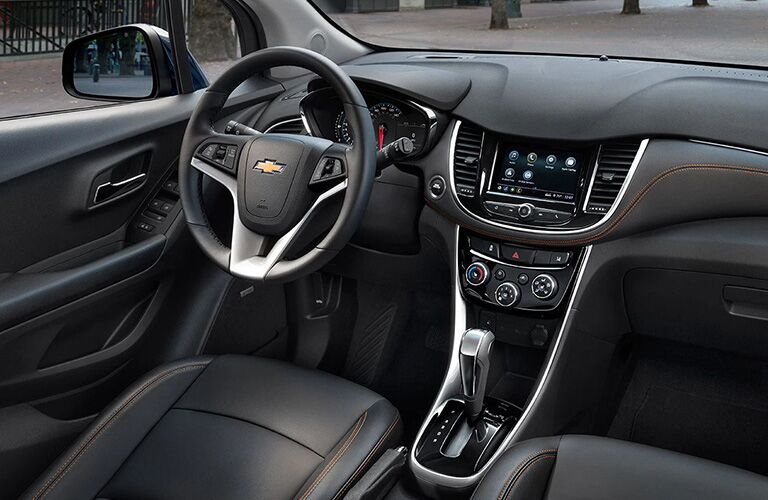 2020 Chevy Trax interior steering wheel and dashboard