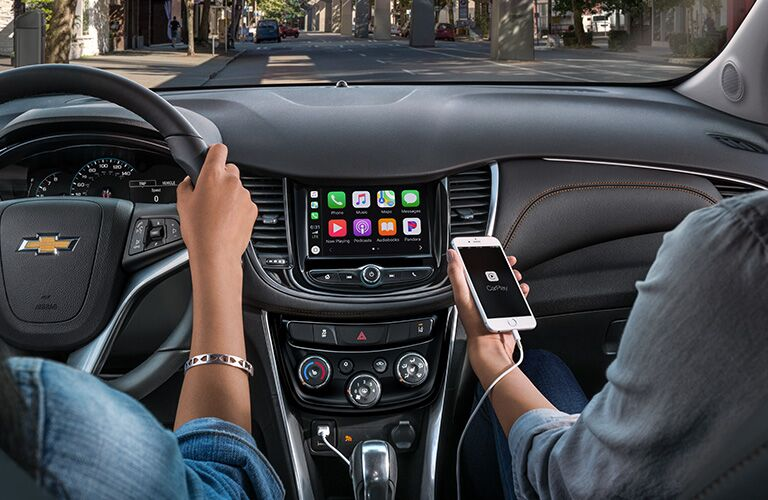 2020 Chevy Trax Apple CarPlay in use