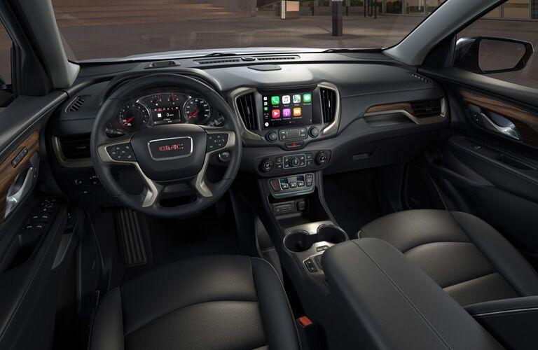 2020 GMC Terrain interior steering wheel and dashboard