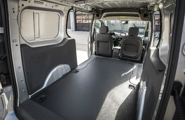 Cargo area in 2020 Ford Transit Connect Cargo Van