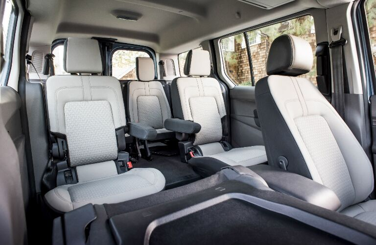 White and grey seats in 2020 Ford Transit Connect Passenger Wagon