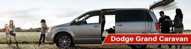 Driver side exterior view of a Dodge Grand Caravan
