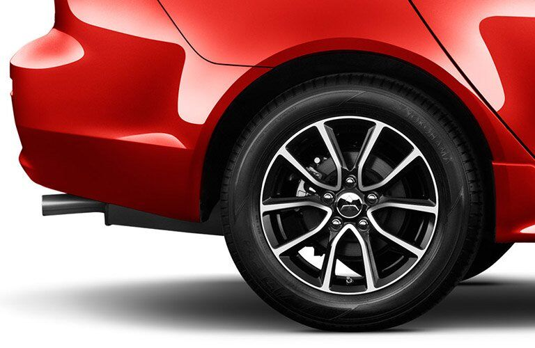 Wheel detail on red 2017 Mitsubishi Lancer