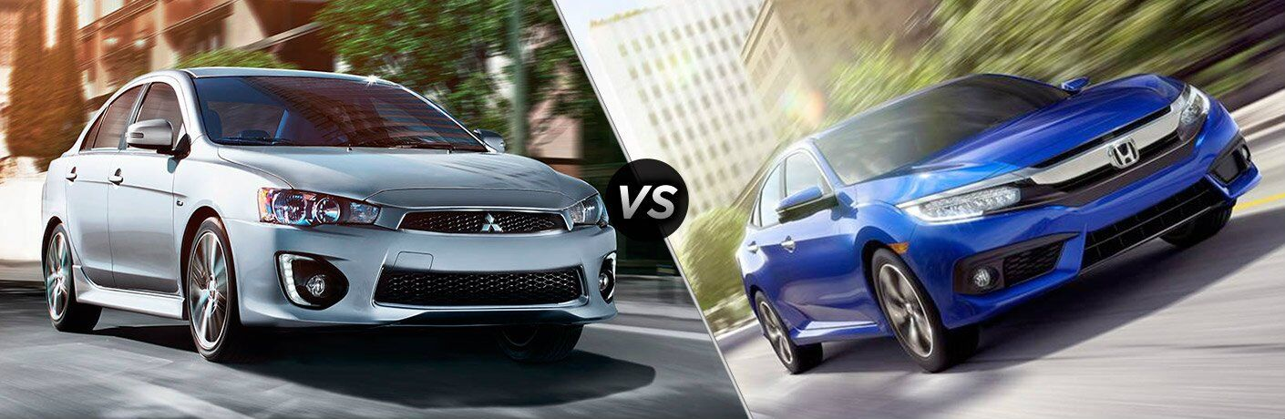 ny 2017 Mitsubishi Lancer vs 2017 Honda Civic