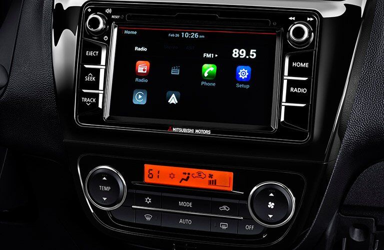 Infotainment system in 2017 Mitsubishi Mirage G4