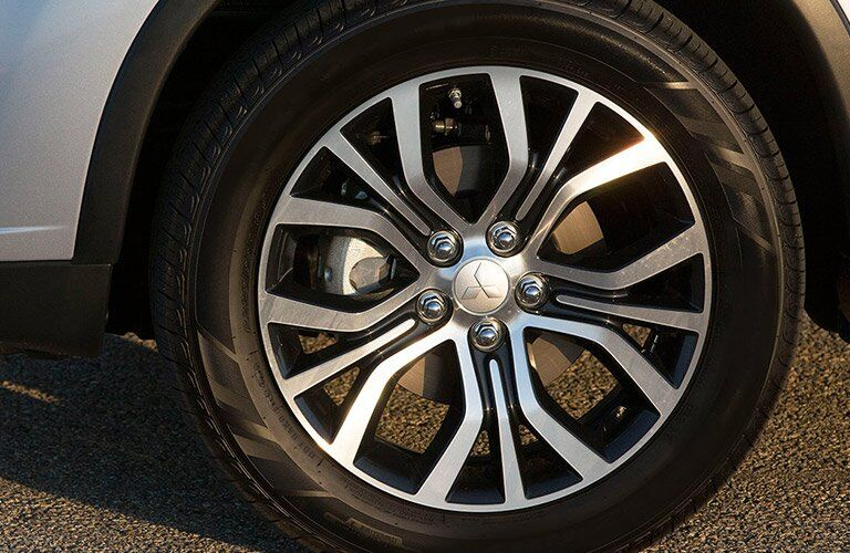 Wheel detail on 2017 Mitsubishi Outlander Sport
