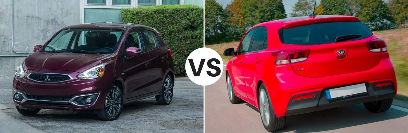 2017 Mitsubishi Mirage vs 2017 Kia Rio 5-Door