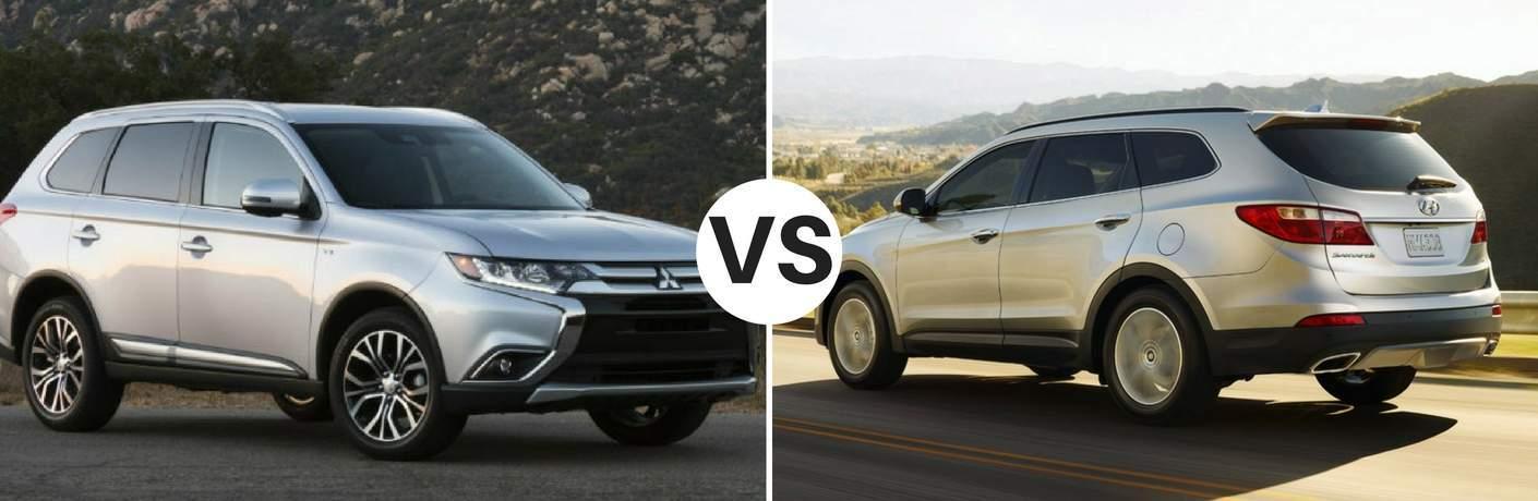 2017 Mitsubishi Outlander vs 2017 Hyundai Santa Fe