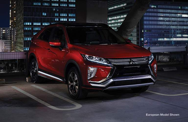 Front/side profile of red 2018 Mitsubishi Eclipse Cross