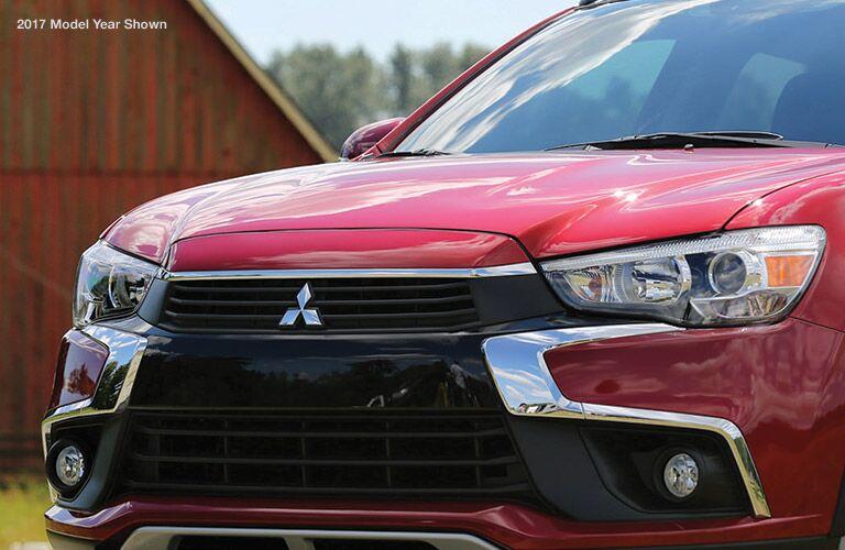 Front grille of red 2018 Mitsubishi Outlander Sport