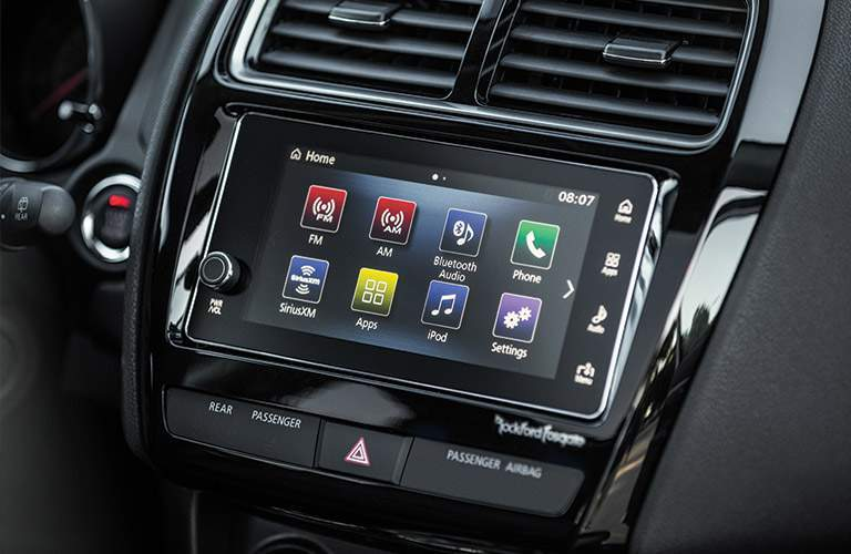 Infotainment system of the 2018 Mitsubishi Outlander Sport