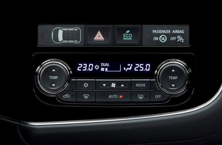 Center console of 2018 Mitsubishi Outlander PHEV