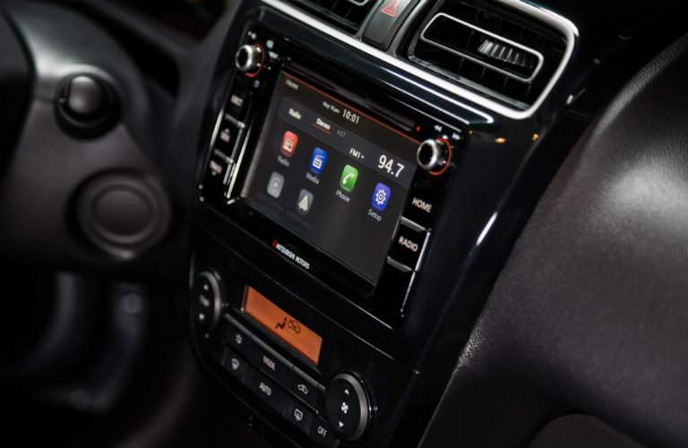 Infotainment system of the 2018 Mitsubishi Mirage G4