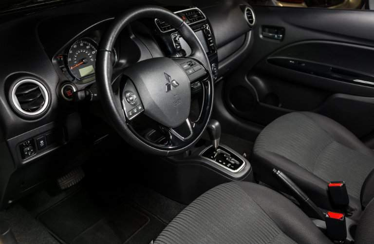 Front dash and steering wheel of 2018 Mitsubishi Mirage G4