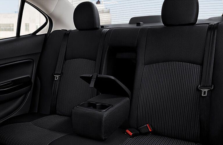 Back seats of 2019 Mitsubishi Mirage G4