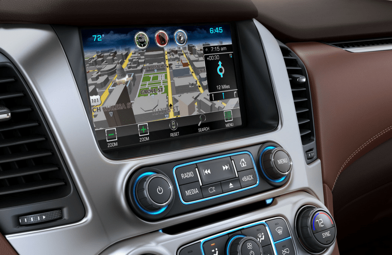 2017 chevy Suburban infotainment display
