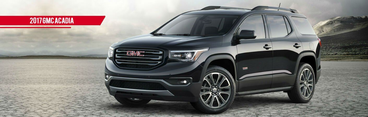 black 2017 GMC Acadia exterior front side