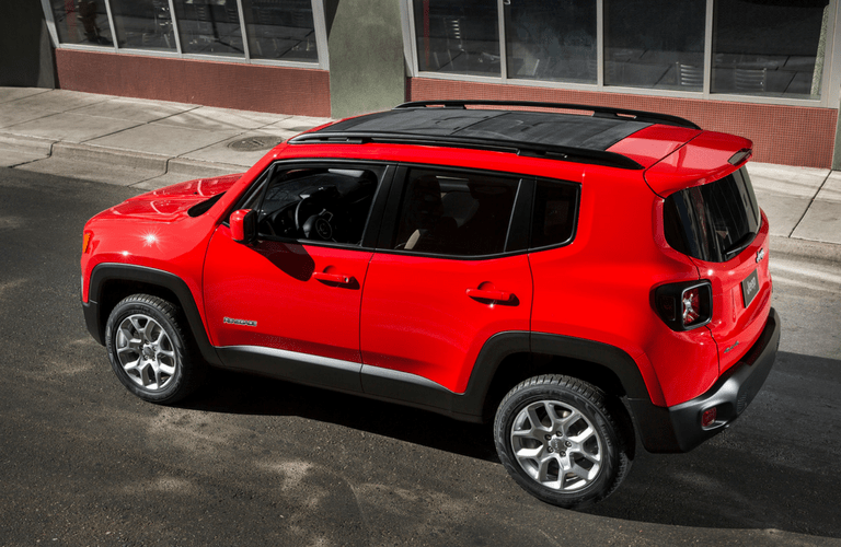 2016 Jeep Renegade in red