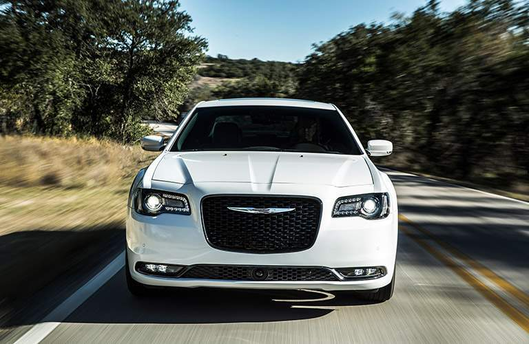2018 Chrysler 300 front view in white