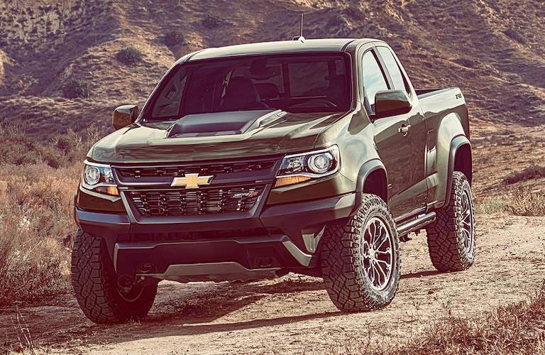 2018 Chevy Colorado in red off-roading vehicle