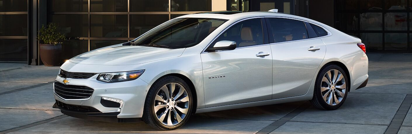 2018 Chevy Malibu from the side