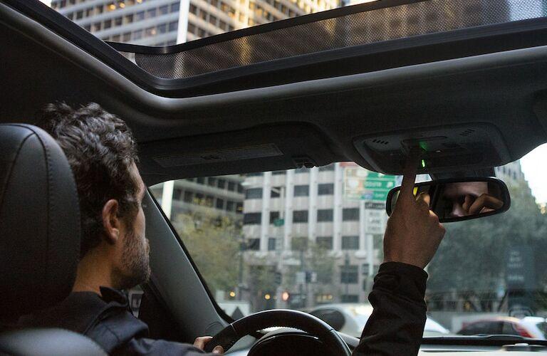 Man driving a 2018 Chevy Malibu