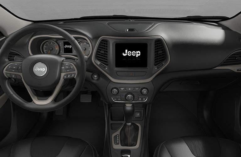 Interior of 2018 Jeep Cherokee