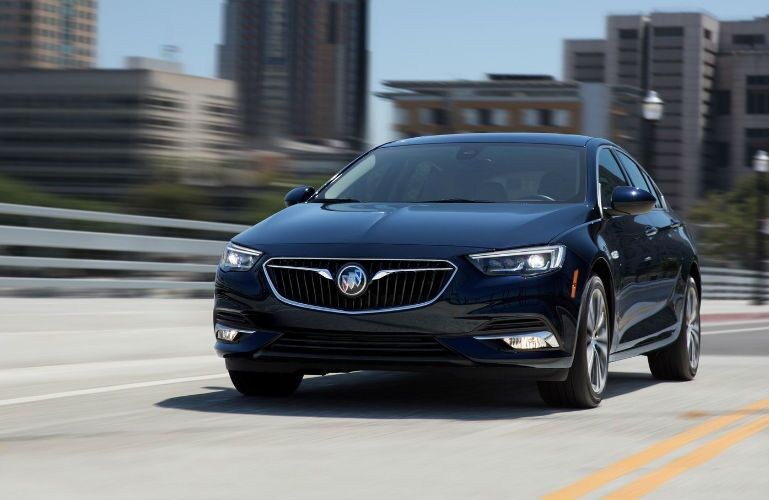 2018 Buick Regal Sportback driving over a bridge