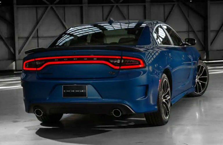 2018 Dodge Charger S/T Scat Pack in blue with view of rear end