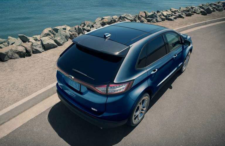 2018 Ford Edge SEL driving along the water