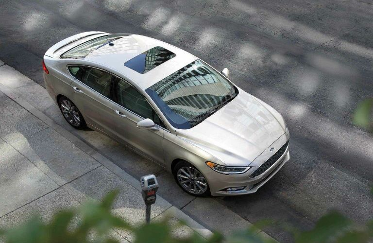 2018 Ford Fusion aerial view while parked at a curb