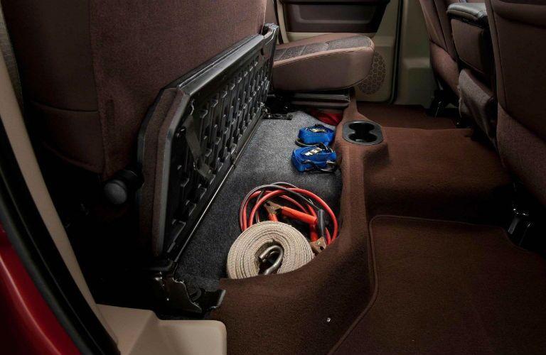 2018 Ram 3500 with under-seat storage