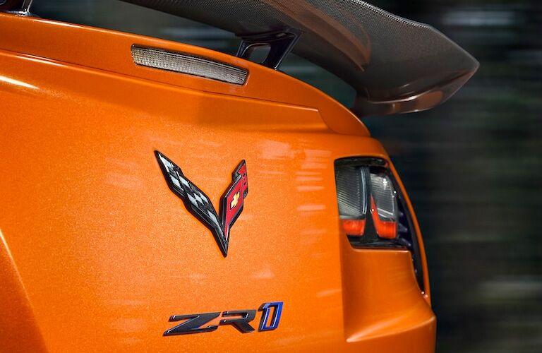 corvette logo on back of 2019 corvette