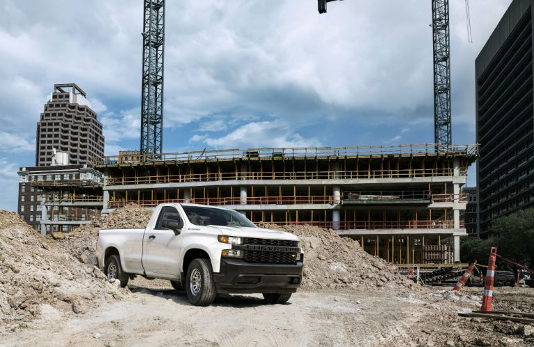 2019 Chevrolet Silverado 1500 parked at a construction site