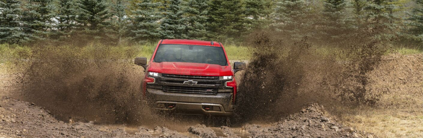 2019 Chevrolet Silverado 1500 driving through mud