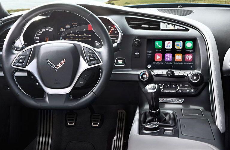 cockpit of 2019 corvette