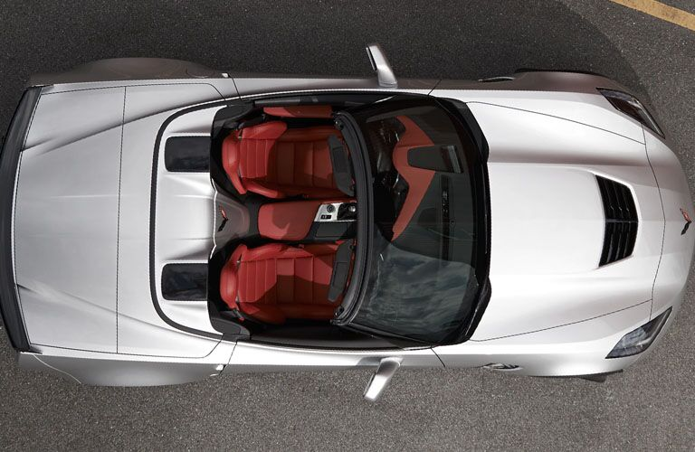 view from above 2019 corvette