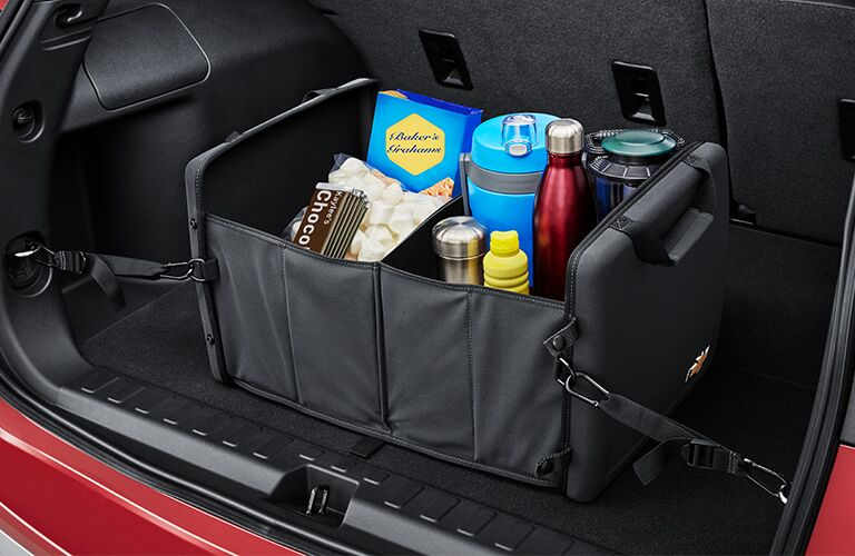 Cargo container in Chevrolet Traverse trunk
