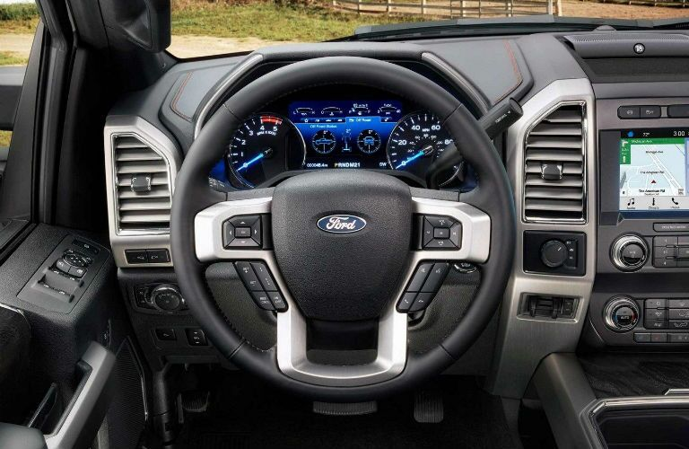 2019 Ford Super Duty Platinum with view of driver's side