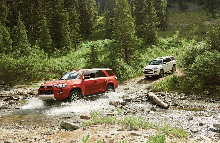 2019 Toyota 4Runner crossing a creek
