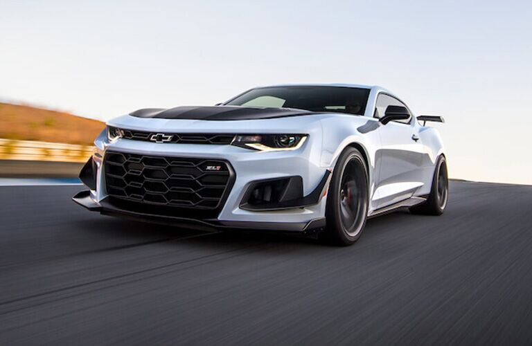 2018 Chevrolet Camaro driving on a track