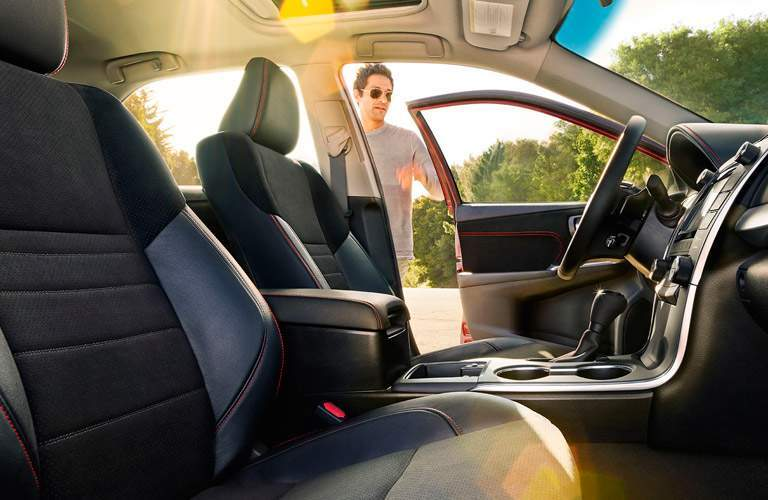 Front seats of the 2017 Toyota Camry