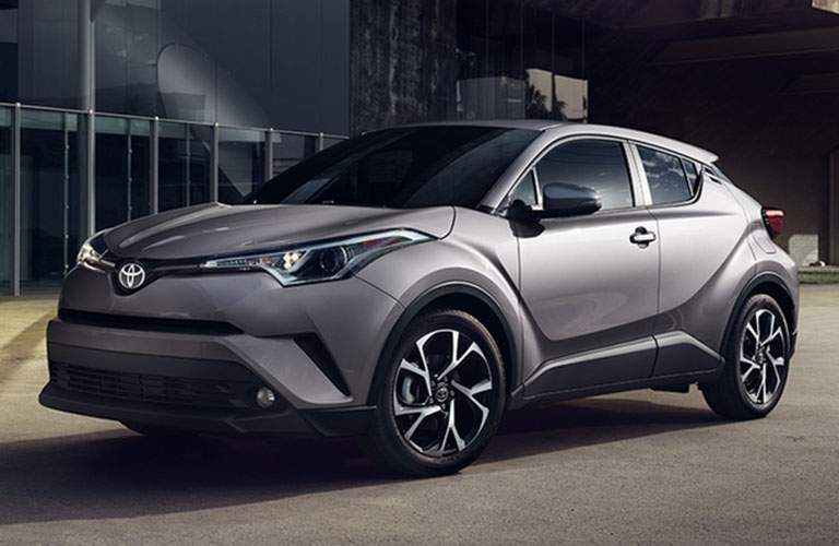 Silver-colored Toyota C-HR