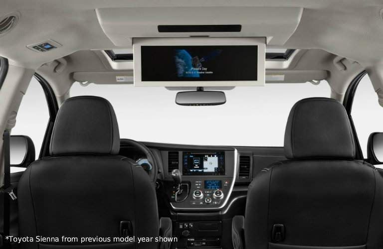 Back-seat entertainment system in 2018 Toyota Sienna