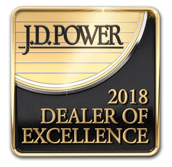 JD Power Dealer of Excellence Award