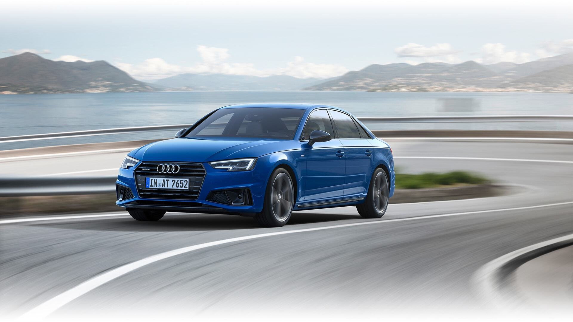 A sideways view of the New 2019 Audi S4 Sedan available in Windsor Ontario