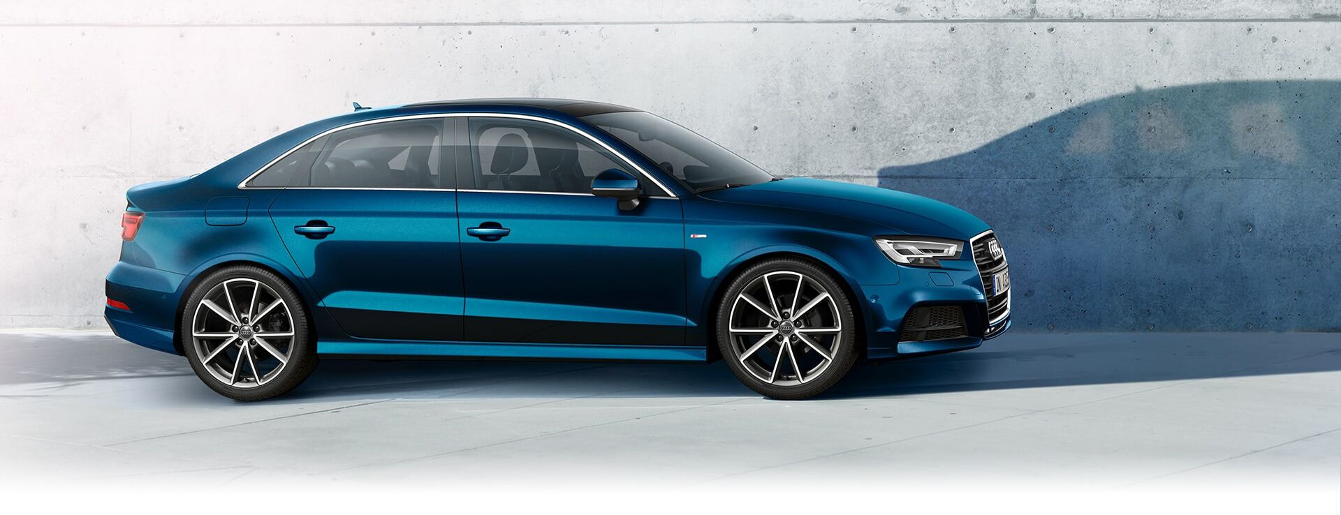A sideways view of the New 2019 Audi S3 Sedan available in Windsor Ontario